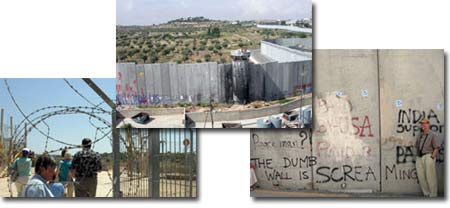 """The Dumb Wall is Screaming""—through the razor wire."